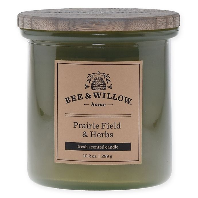 Alternate image 1 for Bee & Willow™ Home Prairie Field & Herb 10.2 oz. Jar Candle in Green