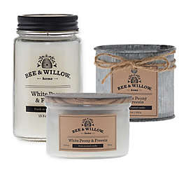 Bee & Willow™ Home White Peony & Freesia Candle Collection