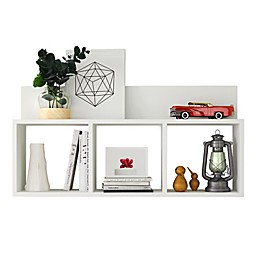 Danya B.™ Triple Cubed Floating Shelf in White