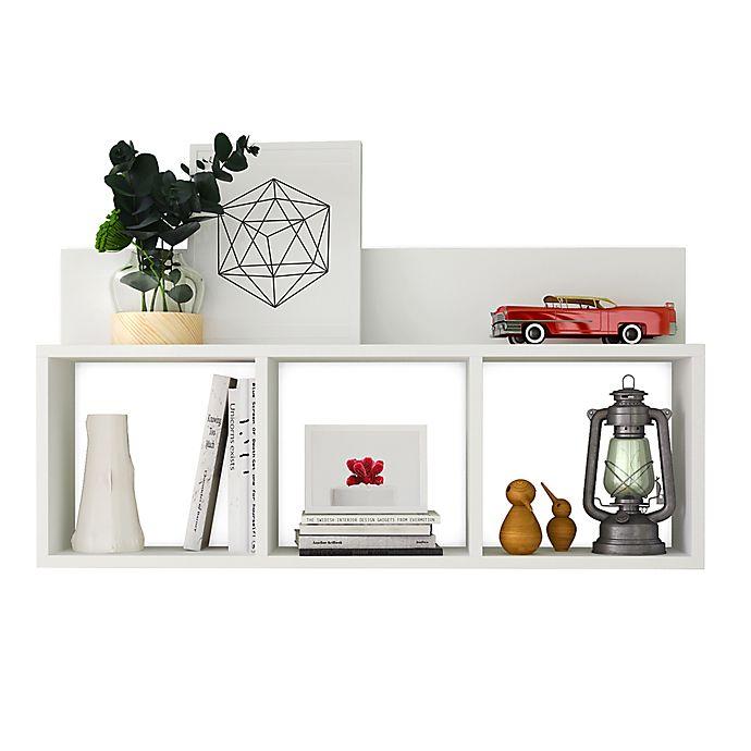 Alternate image 1 for Danya B.™ Triple Cubed Floating Shelf in White