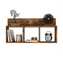 Danya B.™ Rustic Triple Cubed Floating Shelf in Brown