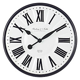 Sterling & Noble™ Enameled 15.5-Inch Wall Clock in Black