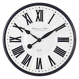 Sterling & Noble™ Enameled 15.5-Inch Wall Clock in Black