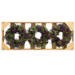 Bee & Willow™ Home 3-Piece Dried Larkspur & Caspia Mini Wreath Set