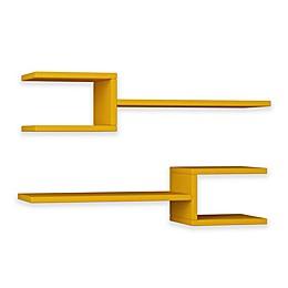 Ada Home Decor Webbs 30-Inch x 7-Inch Modern Wall Shelves (Set of 2)