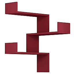 Ada Home Decor Walker 24-Inch Modern Wall Shelf in Burgundy