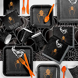 Creative Converting 81-Piece Wicked Spider Halloween Party Supplies Kit