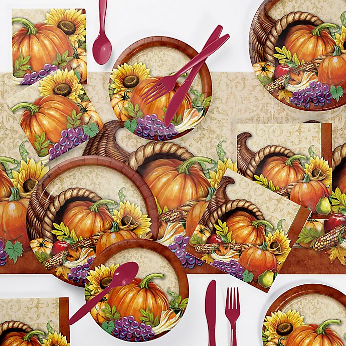 Creative Converting 73-Piece Bountiful Thanksgiving Party