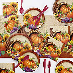 Creative Converting 73-Piece Bountiful Thanksgiving Party Supplies Kit