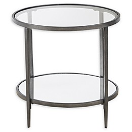 INK+IVY Tatum Glass and Metal End Table
