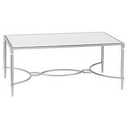 Madison Park Signature Turner Mirrored Coffee Table in Silver