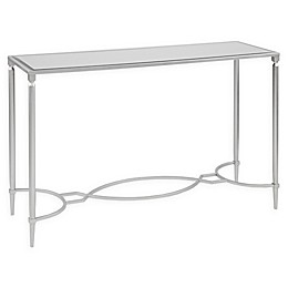 Madison Park Signature Turner Mirrored Console Table in Silver