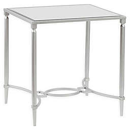 Madison Park Signature Turner Mirrored End Table in Silver