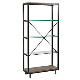 Madison Park Pratt Bookcase in Iron/Grey