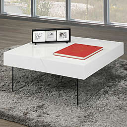 Brassex Coffee Table with Storage in White
