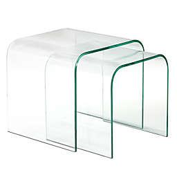 Brassex Glass Nesting Tables (Set of 2)
