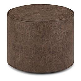 Simpli Home Faux Leather Upholstered Kearney Ottoman