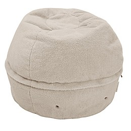 Mimish Exposed Zipper Sherpa Storage Pouf
