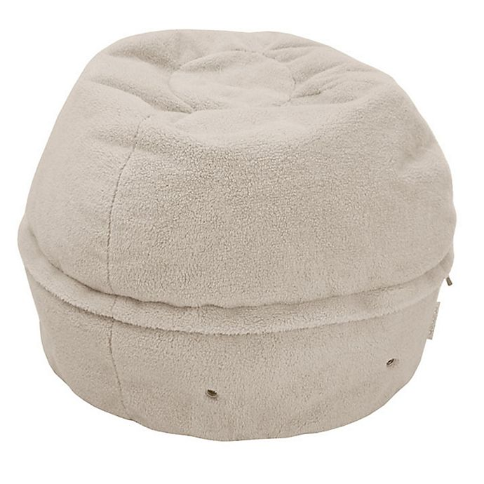 Alternate image 1 for Mimish Exposed Zipper Sherpa Storage Pouf