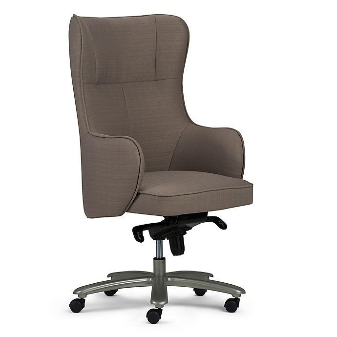 Alternate image 1 for Simpli Home Linen Swivel Leeds Office Chair