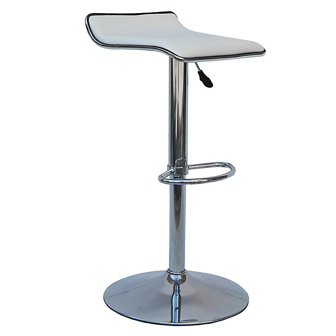 Alternate image 1 for Faux Leather Swivel 34.65-Inch Airlift Bar Stools (Set of 2)