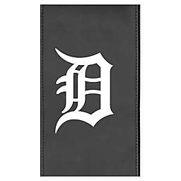 MLB Detroit Tigers Faux Leather Logo Panel in White