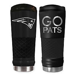 New England Patriots 24 oz. Powder Coated Stealth Draft Tumbler