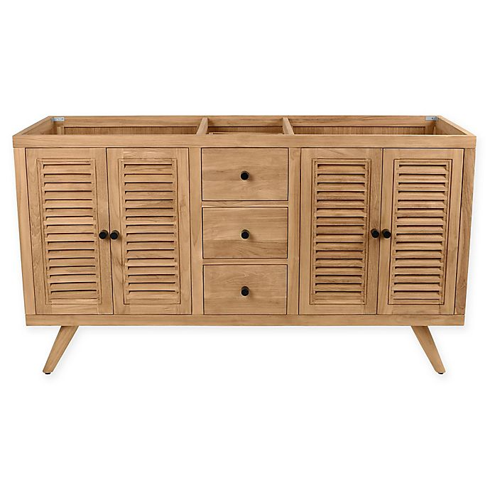Alternate image 1 for Avanity™ Harper 60-Inch Freestanding Double Bathroom Vanity Cabinet in Natural Teak