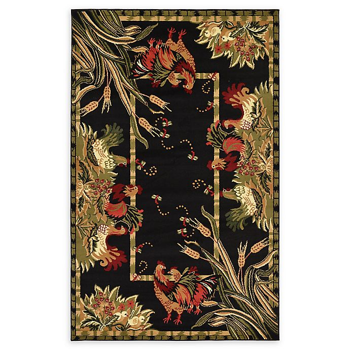 Alternate image 1 for Country Farm Area Rug in Black