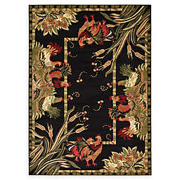 Country Farm 7' x 10' Area Rug in Black