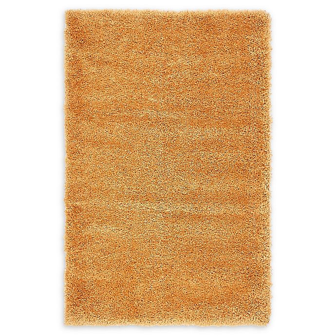 Alternate image 1 for Luxe Solo 3'3 x 5'3 Shag Area Rug in Orange