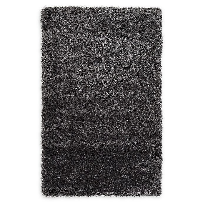Alternate image 1 for Luxe Solo 3'3 x 5'3 Shag Area Rug in Black