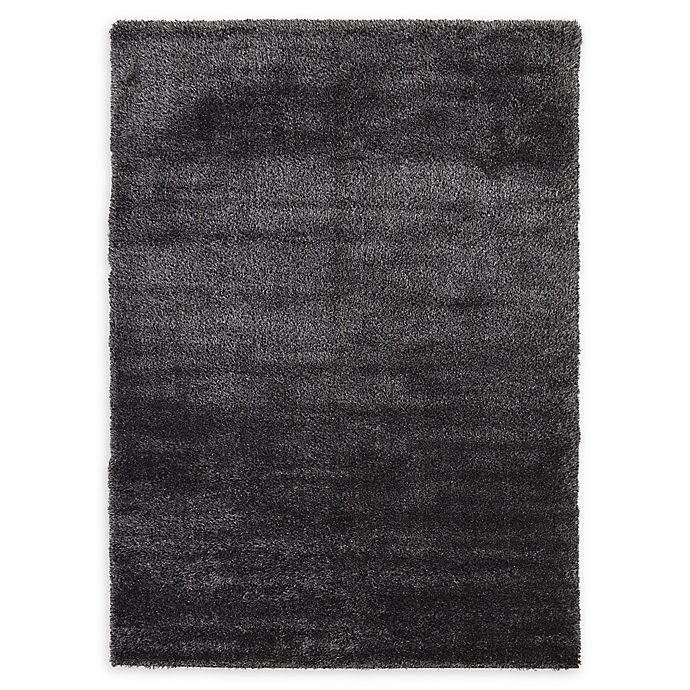 Alternate image 1 for Luxe Solo 7' x 10' Shag Area Rug in Black