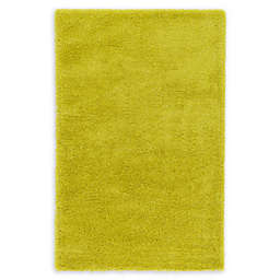 Luxe Solo Shag Area Rug in Yellow