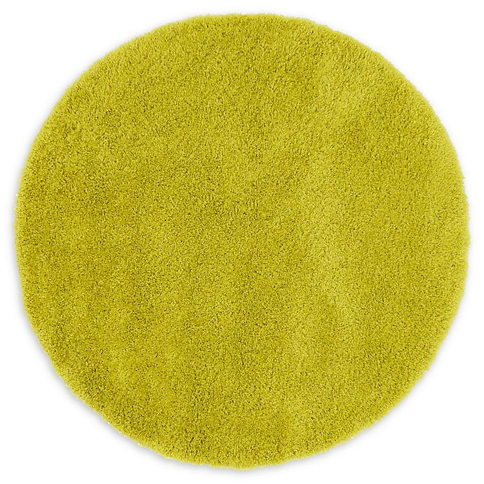 Alternate image 1 for Luxe Solo 6' Round Shag Area Rug in Yellow