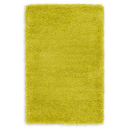 Luxe Solo 7' x 10' Shag Area Rug in Yellow