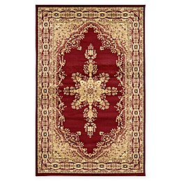 Louis Versailles Area Rug in Red