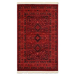 Unique Loom Lincoln Bokhara Area Rug in Red