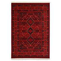 Unique Loom Lincoln Bokhara 7' x 10' Area Rug in Red