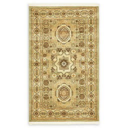 Unique Loom Madison Palace 3'3 x 5'3 Powerloomed Area Rug in Light Green
