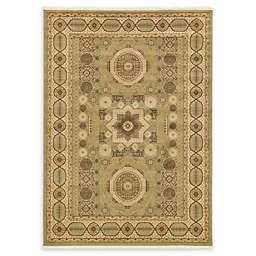 Unique Loom Madison Palace 7' x 10' Powerloomed Area Rug in Light Green