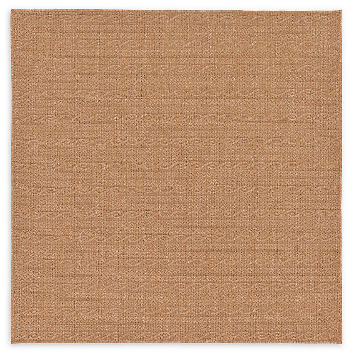 Alternate image 1 for Unique Loom Links 6' x 6' Indoor/Outdoor Area Rug in Light Brown