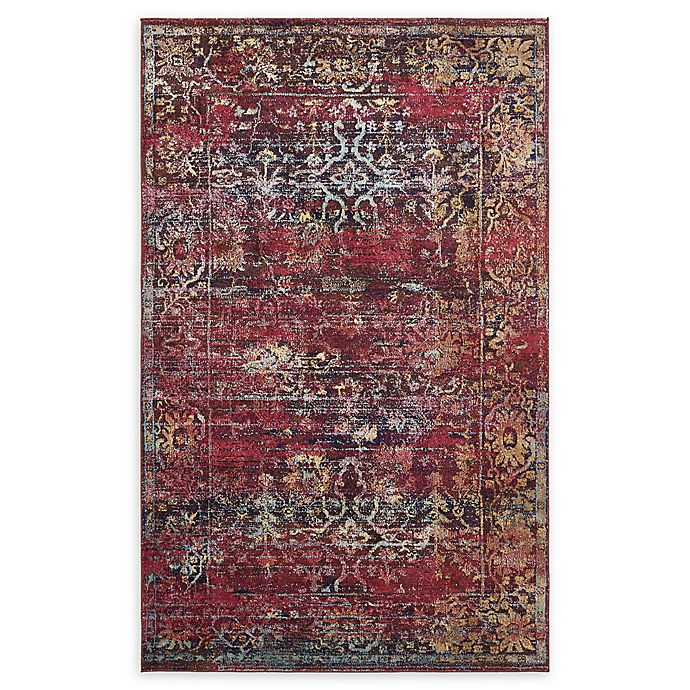 Alternate image 1 for Unique Loom Lexington Milan 5' X 8' Powerloomed Area Rug in Rust Red