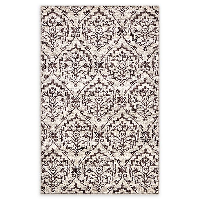 Alternate image 1 for Unique Loom Lovely Damask 3'3 x 5'3 Area Rug in Beige
