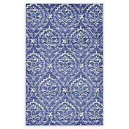Unique Loom Lovely Damask Rug in Blue