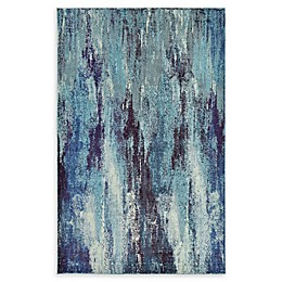 Unique Loom Lilly Barcelona Rug in Blue