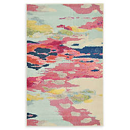 Unique Loom Laurnell Barcelona 3'3 x 5'3 Powerloomed Area Rug in Pink