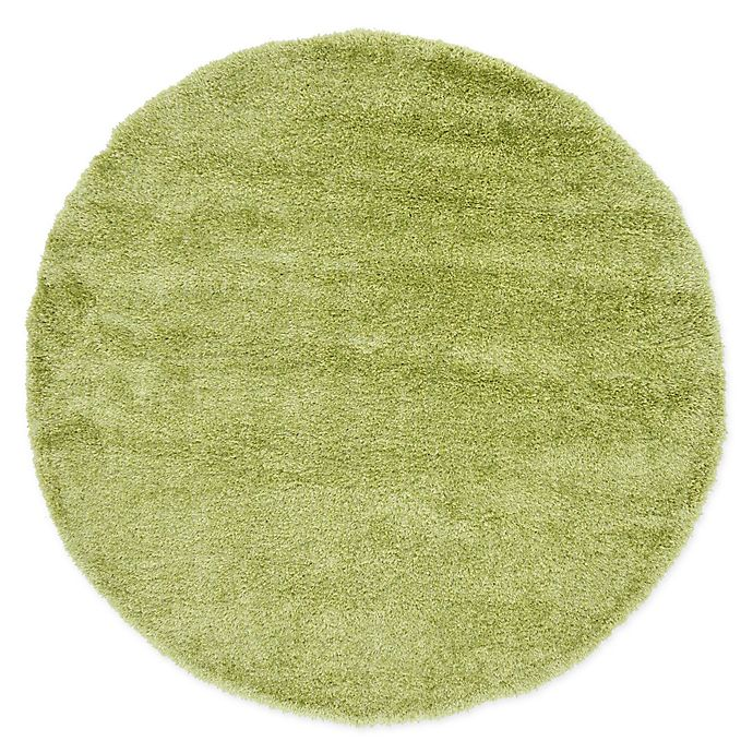 Alternate image 1 for Unique Loom Mulholland Solo 6' Round Power-Loomed Area Rug in Green