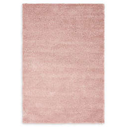 Unique Loom Calabasas Solo Power-Loomed Rug in Pink