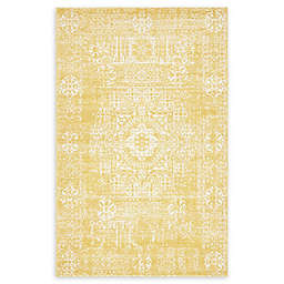 Unique Loom Heritage Power-Loomed Rug in Yellow
